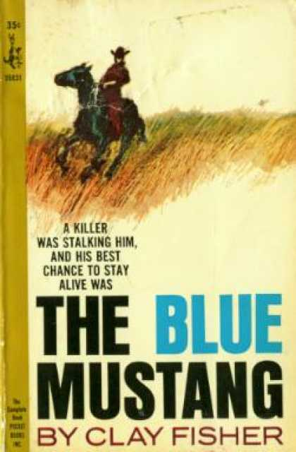 Pocket Books - The Blue Mustang - Clay Fisher