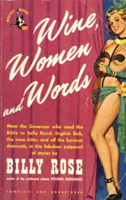 Pocket Books - Wine, Women and Words - Billy Rose