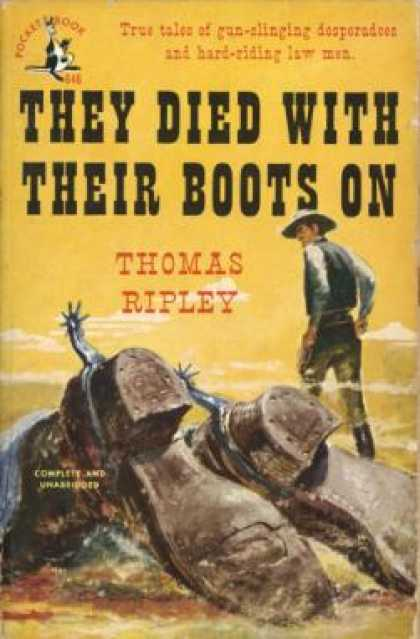 Pocket Books - They Died With Their Boots On - Thomas Ripley