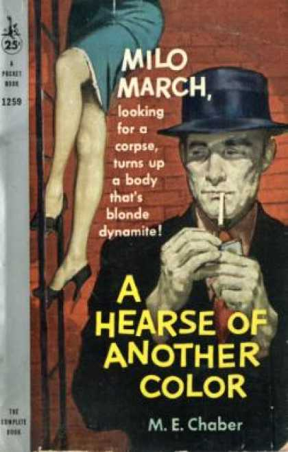 Pocket Books - A Hearse of Another Color: A Milo March Mystery, #15 - M. E. Chaber