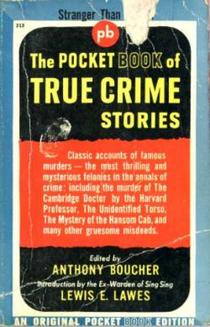 Pocket Books - The Pocket Book of True Crime Stories - Anthony Boucher