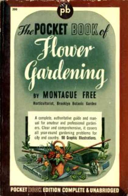 Pocket Books - Pkt Book of Flower Gardening - Montague Free