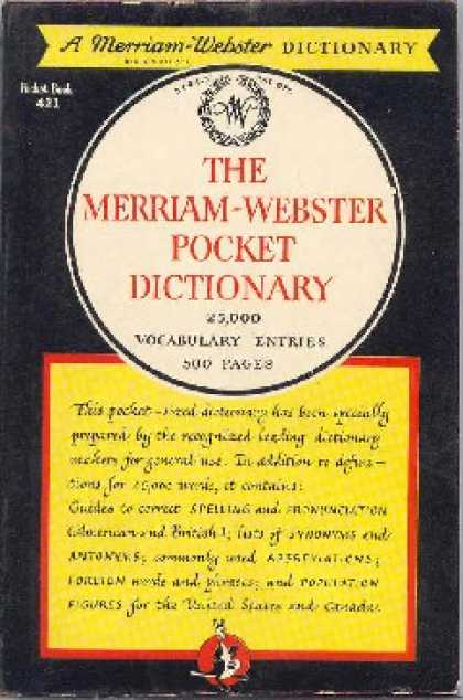 Pocket Books - Merriam-webster Pocket Dictionary - Anonymous