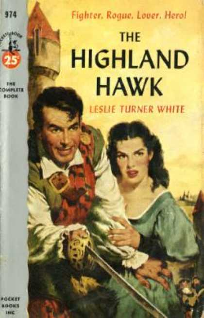 Pocket Books - The Highland Hawk - Leslie Turner White