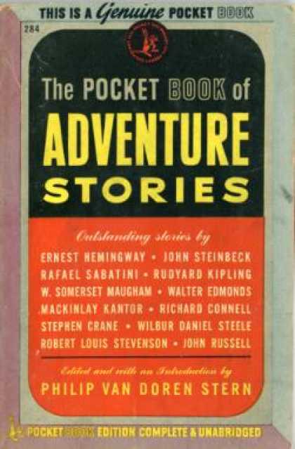 Pocket Books - The Pocket Book of Adventure Stories - Philip Van Doren, Ed. Stern