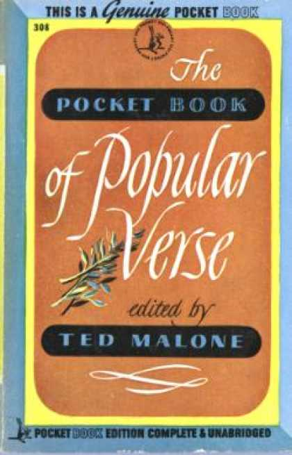 Pocket Books - The Pocket Book of Popular Verse, - Ted Malone
