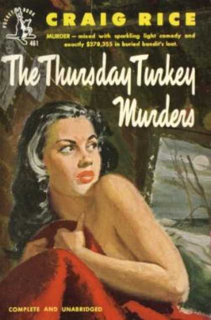 Pocket Books - The Thursday Turkey Murders - Craig Rice