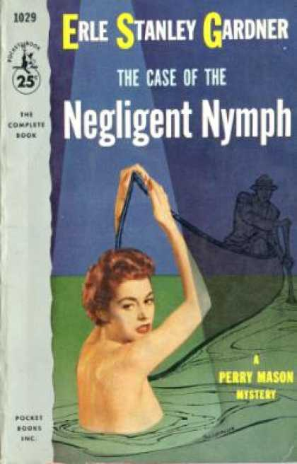 Pocket Books - Perry Mason, the Case of the Negligent Nymph - Erle Stanley Gardner