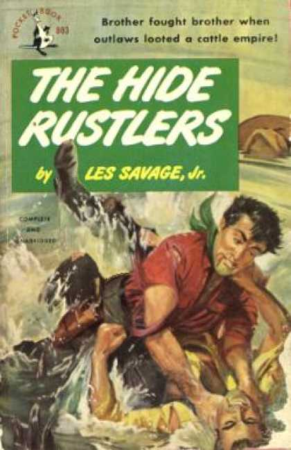 Pocket Books - The Hide Rustlers - Les Savage