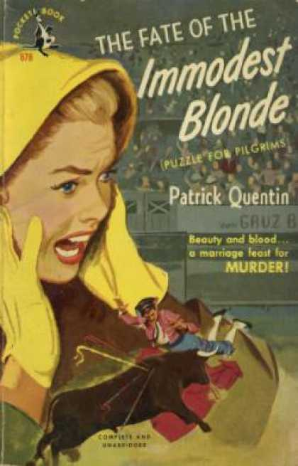 Pocket Books - The Fate of the Immodest Blonde - Patrick Quentin