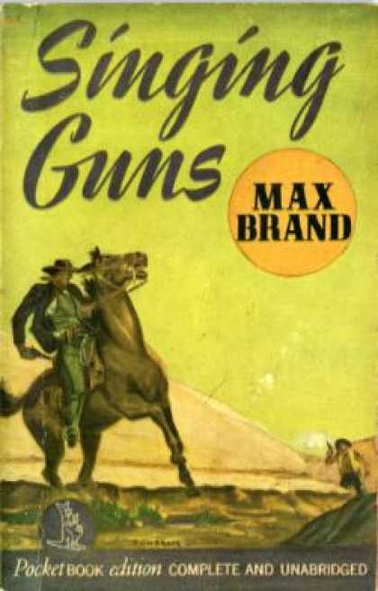 Pocket Books - Singing Guns - Max Brand