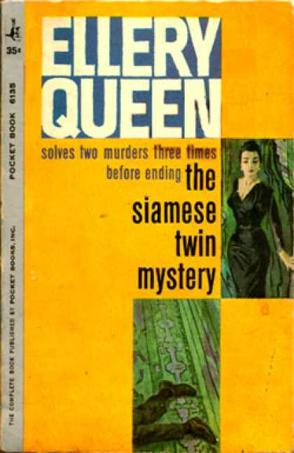 Pocket Books - The Siamese Twin Mystery - Ellery Queen