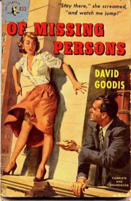 Pocket Books - Of Missing Persons - David Goodis