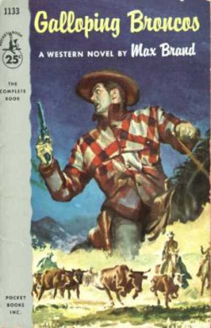 Pocket Books - Galloping Broncos - Max Brand
