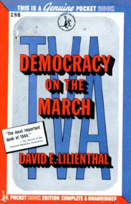 Pocket Books - Tva: Democracy On the March - David Eli Lilienthal