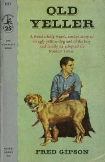 Old Yeller Book Cover : Pocket book covers