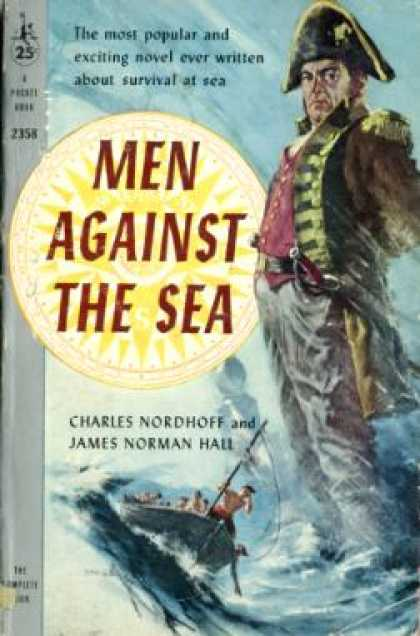 Pocket Books - Men Against the Sea - Charles; Hall, James Norman Nordhoff