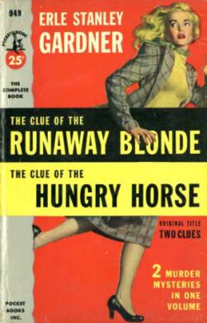 Pocket Books - The Clue of the Runaway Blonde and the Clue of the Hungry Horse - Erle Stanley G