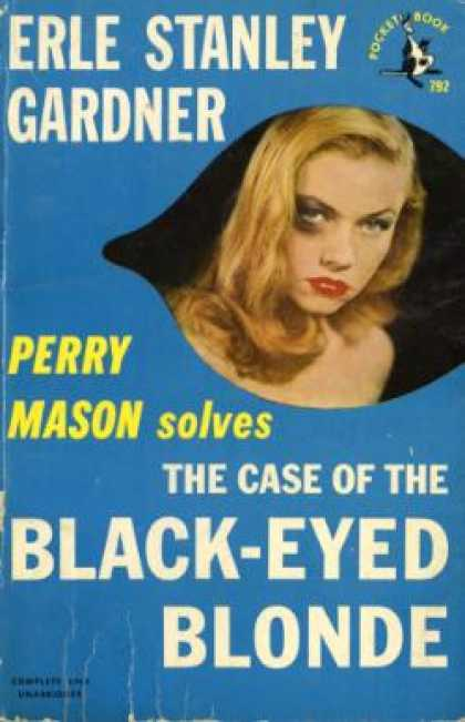 Pocket Books - Case Black Eyed Blonde - Erle Stanley Gardner