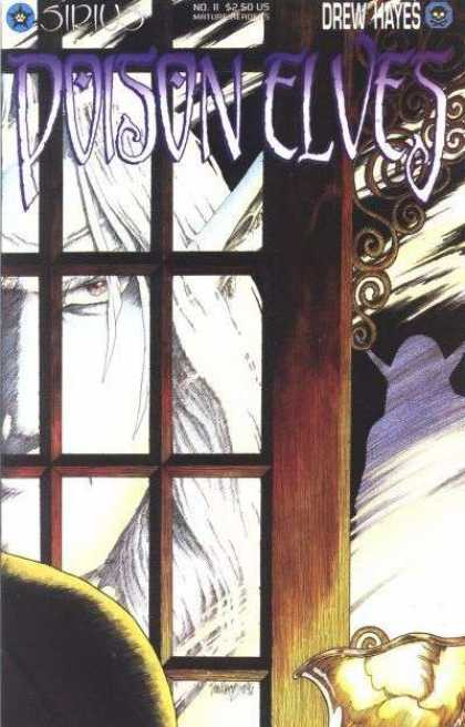 Poison Elves 11 - Drew Hayes - White Hair - Window Panes - Eye - Haunted Face