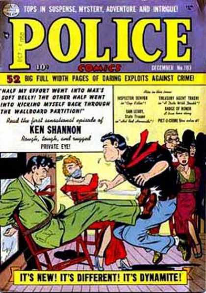 Police Comics 103 - Ken Shannon - Mystery - Private Eye - Kick In The Groin - Bondage