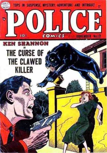 Police Comics 121 - Suspense - Mystery - Adventure - Clawed Killer - Ken Shannon