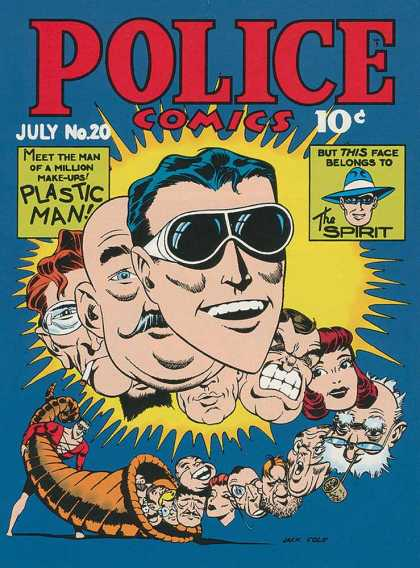Police Comics 20 - Police Comics - The Spirit - Plastic Man - Capricorn - Many Faces