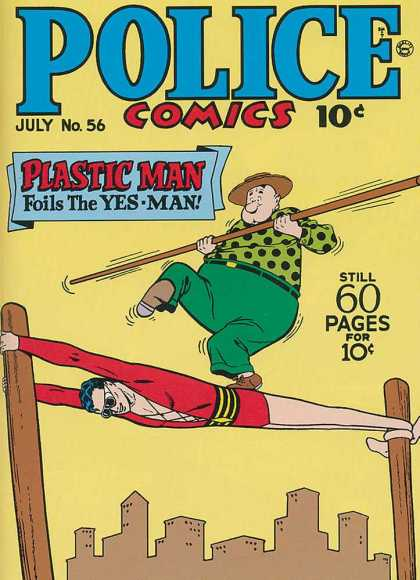 Police Comics 56 - Plastic Man - Foils - Yes Man - Green - Red