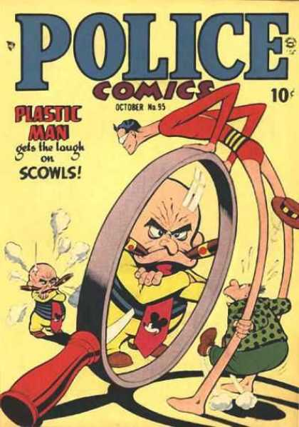 Police Comics 95 - Plastic Man - Scowls - October No95 - Cigars - Smoke