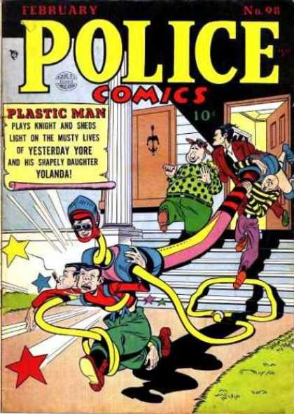 Police Comics 98 - Plastic Man - Yolanda - Daughter - Stretch - Door