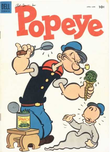 Popeye 28 - Dell - Dell Comics - Sailor - Spinach - Ice-cream