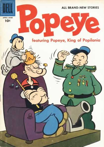 Popeye 36 - Dell - April - June - King Of Popilania - Cannon