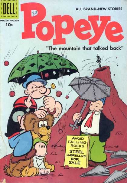 Popeye 39 - Volcano - Umbrella - Wimpy - Pipe - Rocks