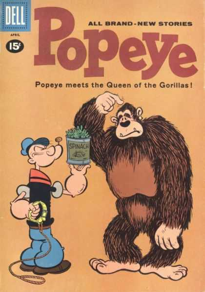 Popeye 58 - Queen Of The Gorillas - Spinach - Pipe - Sailor - Dell