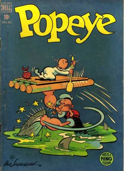 Popeye 6 - Barge - Sailorman - Shark - Bud Sagendorf - Star