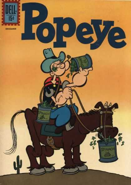Popeye 62 - Spinaches - Horse - Cowboy - Muscles - Desert