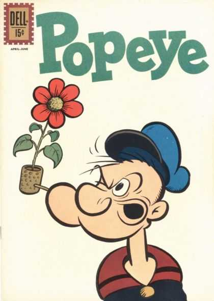 Popeye 64 - Flower - Hat - Leafs - Pipe - Saile