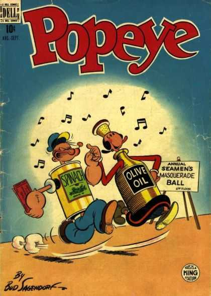 Popeye 8 - Spinich - Olive Oil - Masquerade Ball - Sailor Man - Costumes