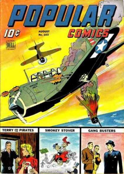 Popular Comics 102 - Planes - Terry And The Pirates - Smokey Stover - Gang Busters - Dogfight