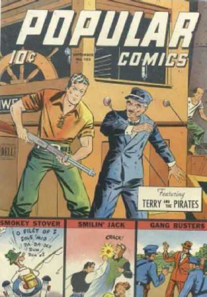 Popular Comics 103 - Shotgun - Terry And The Pirates - Boat - Ten Cents - Smilin Jack