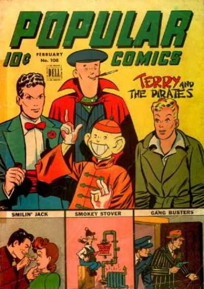 Popular Comics 108 - The Pirates - Smilin Jack - Smokey Stover - Gang Busters - Policeman