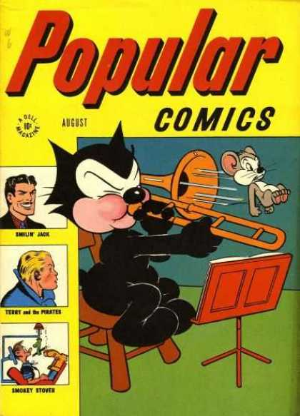 Popular Comics 126 - Mouse - Cat - Smokey Stover - Emilin Jack - Perster