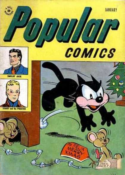 Popular Comics 131 - January - Felix - Mouse - Felix Merry X-mas - Christmas