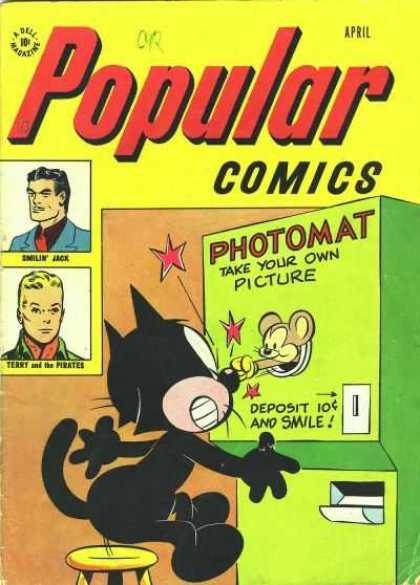 Popular Comics 134 - Smile - Take Your Own Picture - Punched - What A Hit - Photomat