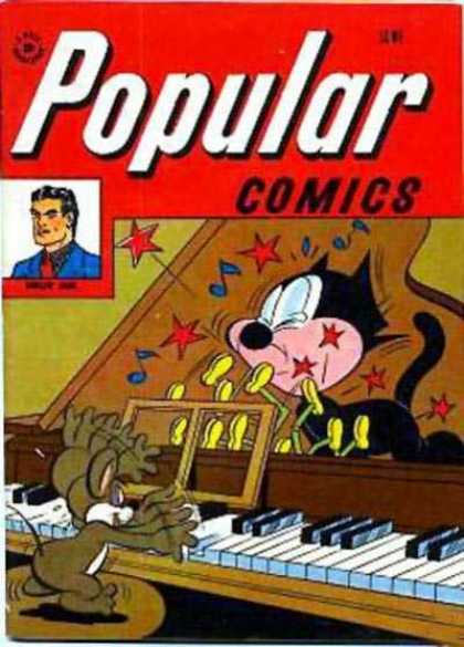 Popular Comics 136 - Cat - Mouse - Grand Piano - Slapstick - Hammer Heads