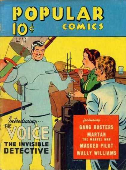 Popular Comics 53 - Science Lab - Invisible Detective - Gang Busters - Masked Pilot - The Marvel Man