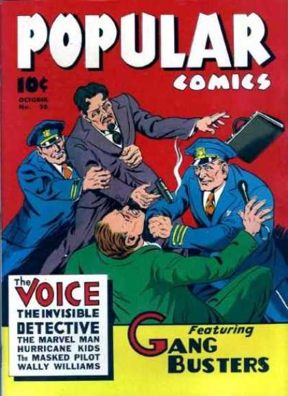 Popular Comics 56 - The Voice - Police - Gang Busters - The Marvel Man - The Masked Pilot