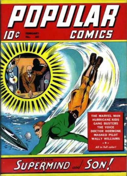Popular Comics 60 - 10 Cents - Business Suit - Marvel Man - Supermind And Son - Gang Busters