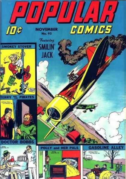 Popular Comics 93 - Smilin Jack - Smokey Stover - Doctor Bobbs - Airplane - Gasoline Alley