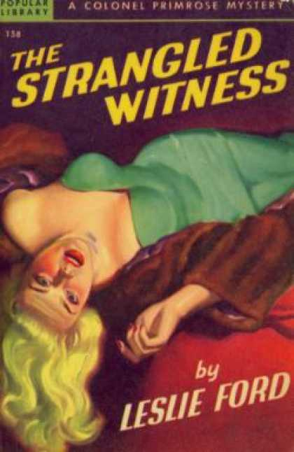 Popular Library - The Strangled Witness - Leslie Ford
